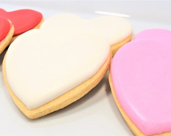 Simple Valentine's Heart Cookies
