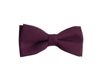 Oliver Bow Tie in Eggplant, Easter, Boys Plum Purple Bowtie, Leather, Kids Toddler Boy Bowties, Christmas Bowties, Baby Boy Clothes