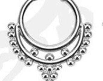 Fake, plated septum ring