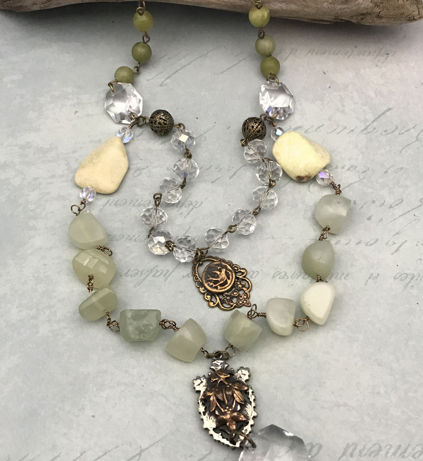 Jade multi strand cross necklace with chandelier crystals religious gallery photo gallery photo gallery photo gallery photo gallery photo arubaitofo Choice Image