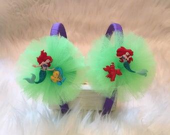 Little mermaid headband- handmade headband- disney pricess headband - ariel headband