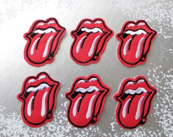 1 pc Lips Iron on patch Punk Lips Red Lips Sew On Patch Applique Embroidered Iron on Patch Sew On Patch