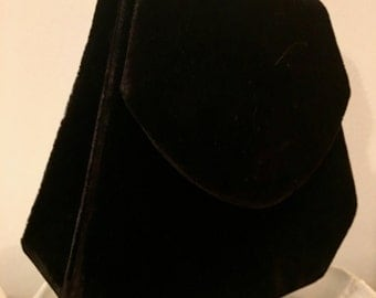Vintage velvet clutch or shoulder evening bag