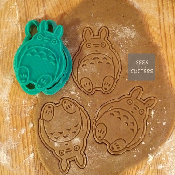 Totoro Cookie Cutter 3d printed *Dishwasher safe option*, Baking Mold, Kawaii, Disney Kid 's, Studio Ghibli Anime Cake Stencil Fondant