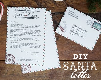 Santa claus letters etsy santa letter santa claus letter santa stationary add your own text letter spiritdancerdesigns Choice Image