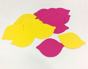 Lemon Confetti, Lemon Die Cuts, Summer Decor