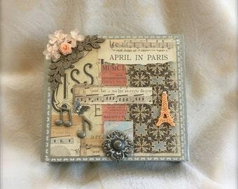 Decorative Parisian Music Keepsake Box, Memory Box, Jewelry Box