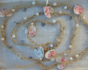Rose Heart Garland
