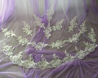 BECKY -  Cathedral Length Wedding Bridal Veil