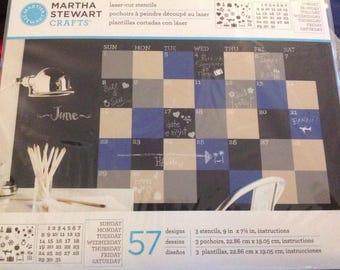 Martha Stewart Crafts |  Laser Cut Stencils |  33548 |  Calendar | 57 Designs | 3 Stencils