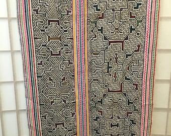 Shipibo Ceremonial Embroderied Wrap Skirt/Tablerunner/Shawl
