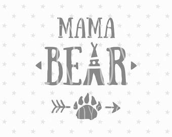 Mama Bear SVG Files Mama Bear SVG Family Bears Svg File Mama Svg Family bear Svg files Cricut Files SVG Cricut File Silhouette Cut Files