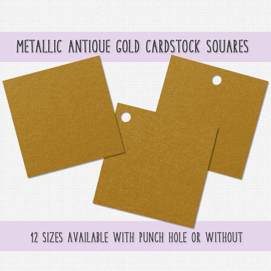 Gold color cardstock paper -  5 50