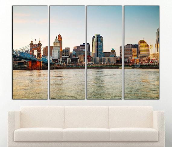 Cincinnati print Cincinnati canvas Cincinnati wall art