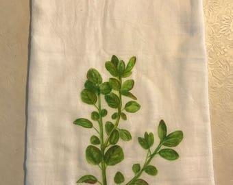 Oregano flour sack towel