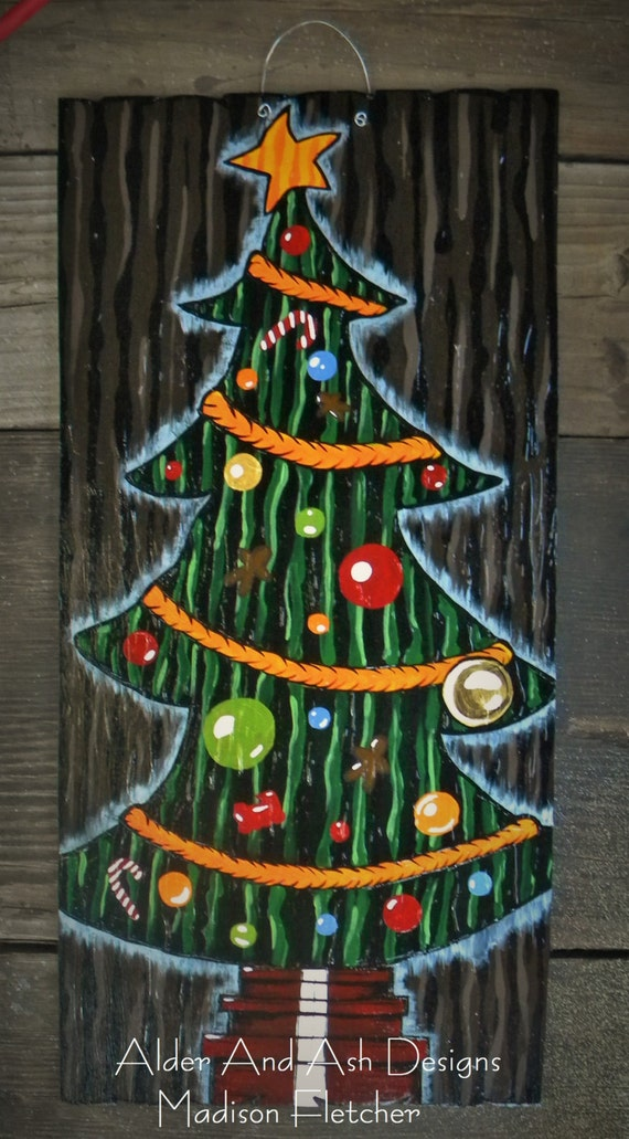 Nightmare Before Christmas Inspired Christmas Tree Door