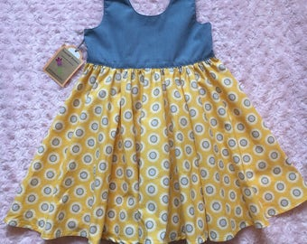 Scoop back circle skirt dress 5t