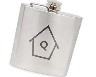 Birdhouse 6 Oz Flask, Stainless Steel Body, Handmade In Usa