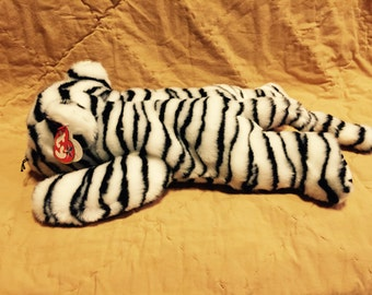 White Tiger Beanie Buddy