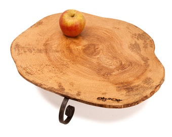 Reclaimed wood fruit tray/cake stand ash wood