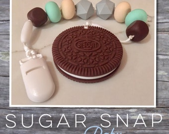 Silicone Chocolate oreo teether - bpa free - chew toy - bite toy - toddler toy - newborn gift - baby gift - silicone toy for baby