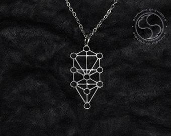 Sephiroth Pendant Kabbalistic Symbol Stainless Steel Jewelry Tree of Life Necklace Keychain Logo Jewish Kabbalah Emblem Amulet Sefirot Sign