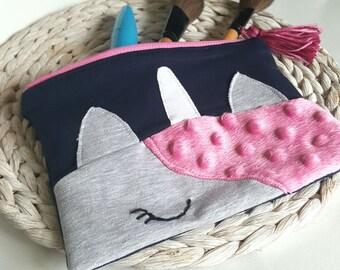 Unicorn zip bag, zip pouch, make up bag, pencil case, unicorn bag, bag organiser, stationery organiser, back to school, unicorn zipper bag