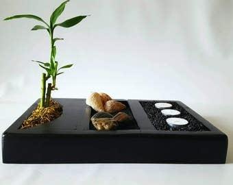 Executive Zen Garden, Deluxe Zen Garden Kit, Rock Garden, Japanese Rock Garden, Sand Garden, Desktop Zen Garden, Zen Garden, Bamboo Garden