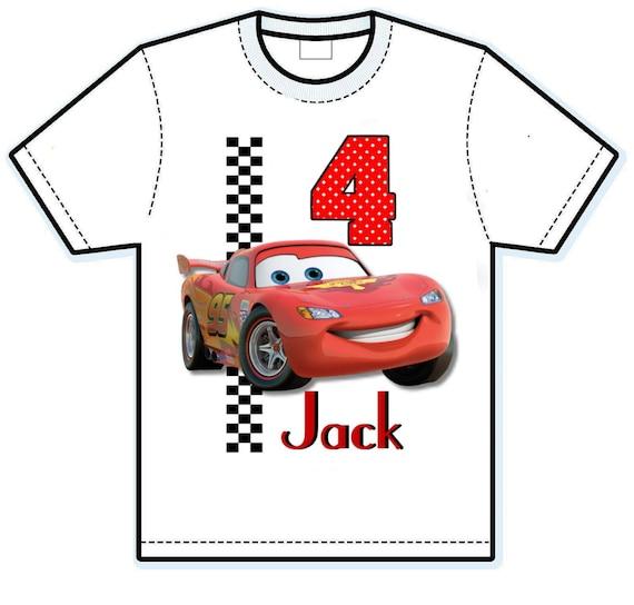 Disney Cars Lighting McQueen birthday shirt