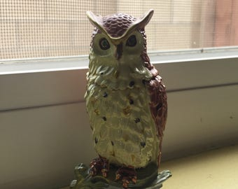 Owl Figurine with hidden compartment