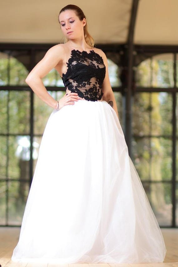 robe de mari e noir et blanche robe de mari e modulable. Black Bedroom Furniture Sets. Home Design Ideas