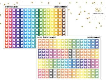 Multicolor: 3 heart checklists