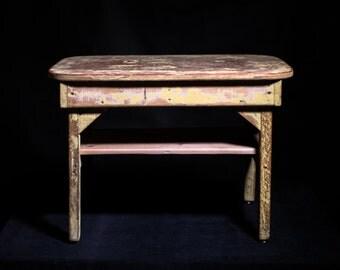Naïve style coffee table, handmade in the 1960s