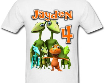 Personalized Dinosaur Train Birthday shirt for Family