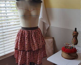 Bon Bon 2 Tiered Gathered Skirt Apron