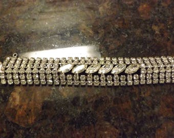Beautiful Vintage Signed Weiss Rhinestone Bracelet