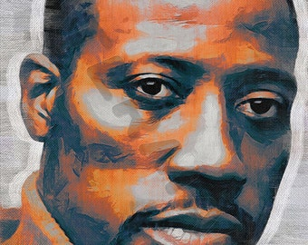 Wesley Snipes Art Print - Oil Painting Poster  LFF0216