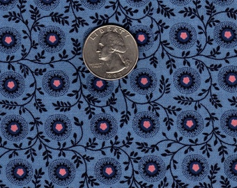 Fat Quarter Blue Flowers Pockets and Housewives by Sturbridge for Kent Avery OOP Fabric