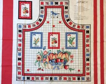 Cute Apron Fabric Panel By Wamsutta