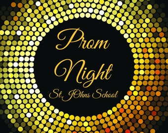 Large custom Black and Gold Prom Night Party Banner, Bling banner , Prom Decorations , Junior Prom, Senior prom, prom party banner ;10000357