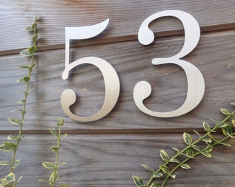 Helvetica House Numbers Stainless Steel Modern House Numbers - Contemporary house numbers