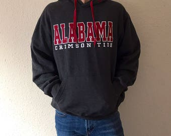Alabama Crimson Tide NCAA College Hooded Sweatshirt - L
