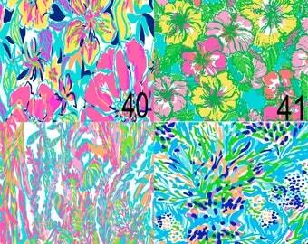 Pattern Vinyl, Lilly Inspired 40-43, HTV,Lilly Pulitzer,Printed Vinyl,Adhesive Outdoor Vinyl, Heat Transfer Vinyl,Iron On Vinyl, Lilly Vinyl
