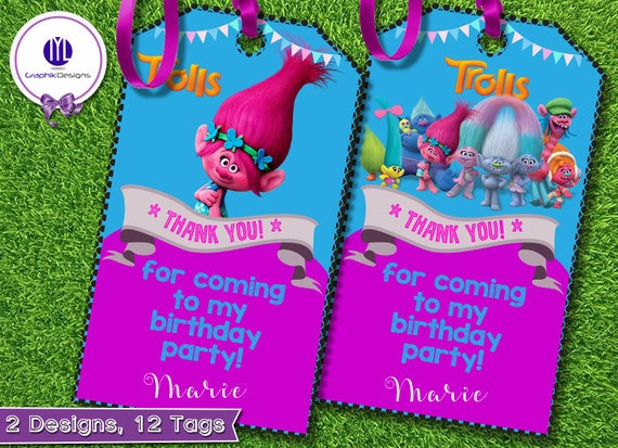 Trolls Thank You Tag