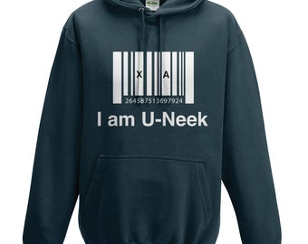 I am u-neek - hoodie - Inspirational Quote - Black - Unique
