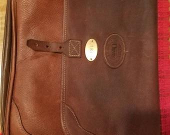 Orvis bull hide leather laptop case