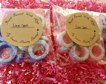 Love Spell wax melts, diamond ring wax melts, valentine's day gifts, gifts for girlfriend, wax tarts, soy wax melts,