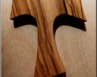 Beautiful olive wood Tau Cross