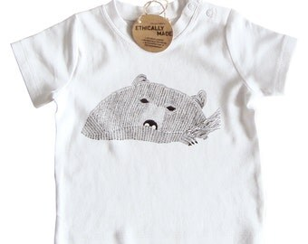 Bear t-shirt organic cotton