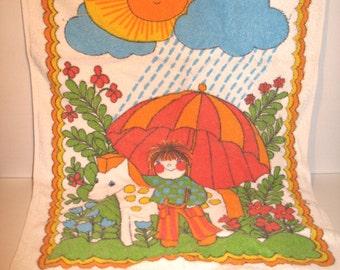 Vintage 70s children's handkerchief